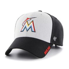 28cb25e651ed2 Miami Marlins Beta MVP Black 47 Brand Adjustable Hat - Great Prices And  Fast Shipping at Detroit Game Gear