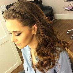 Peinado trenza cabello suelto #peinadosdefiesta