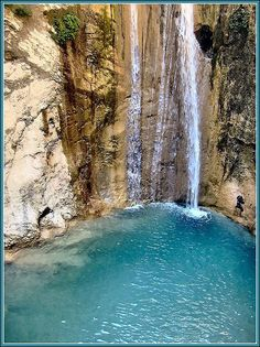Waterfall in Nidry (Lefkada, Greece):