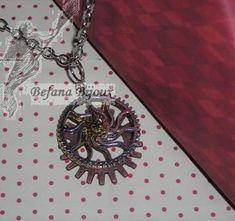 Collier steampunk, assemblage de rouages 10€ Washer Necklace, Pendant Necklace, Assemblage, Creations, Jewelry, Steampunk Necklace, Art Crafts, Jewerly, Jewlery