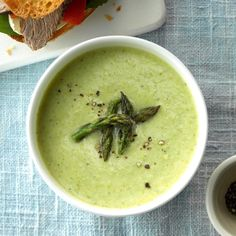 Cheesy Cream Of Asparagus Soup Recipe Taste Of Home. 20 Asparagus Recipes For The Spring An Unblurred Lady. Taste Of Home, Classic Soup Recipe, Creamed Asparagus, Asparagus Recipe, Spring Soups, Best Soup Recipes, Favorite Recipes, Comfort Food, Homemade Soup