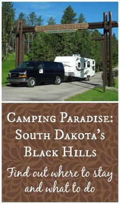 Where to camp in the Black Hills of South Dakota: Rafter J Bar Ranch Campground was a great place to stay while visiting and exploring the Black Hills of South Dakota.