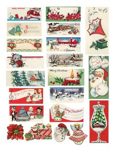 The Sum Of All Crafts: Have A Merry Retro Christmas - how fun! vintage Christmas tags