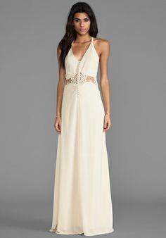 JARLO Siobahn Maxi Dress in Cream - Dresses