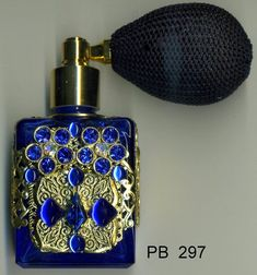 HAND MADE in The CZECH REPUBLIC, AUTHENTIC BOHEMIA GLASS Miniature filigree perfume bottles first appeared in Czechoslovakia. They were most