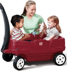 Step2 Neighborhood Wagon Two Person Kind Child Wagon Car Red New Toy Free Ship