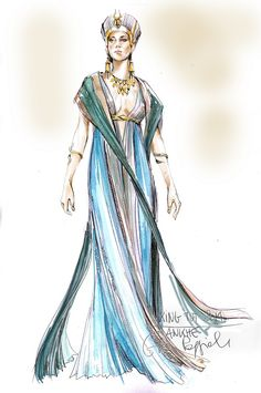 Ankhe costume design from 'Tut'