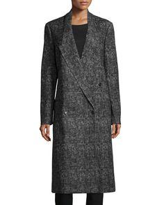 MICHAEL KORS Double-Breasted Long Coat, Graphite. #michaelkors #cloth #