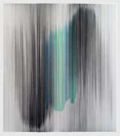 Anne Lindberg   parallel 39, 2013, graphite and colored pencil on cotton mat board