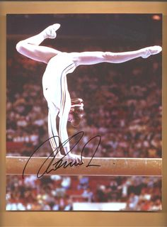nadia comaneci 1976 1980 5 olympic gold medals autographed 8x10 picture