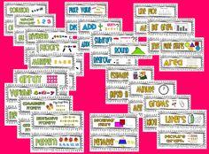 3rd Grade Math Common Core Vocabulary Cards