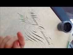 Pointed Pen calligraphy Christmas Greeting - A Bit of Ink - 2011