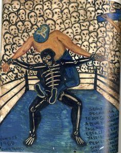 Mexican Artists, Mexican Folk Art, Blue Demon, Mexico Art, Art Brut, Mexican American, Outsider Art, Art Inspo, Grateful