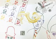"Saatchi Art Artist Zoran Poposki; Drawing, ""Uneven Wings (Kafka)"" #art"