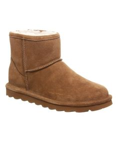 BEARPAW Hickory Alyssa Suede Ankle Boot - Women | Zulily