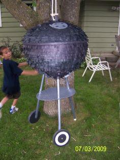 Weber grill pinata