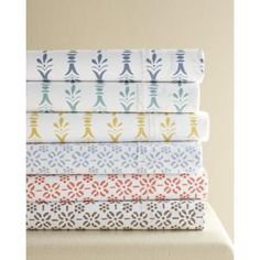 Garnet Hill Everyday Cotton Percale Sheets Double - Flat Driftwood Stencil