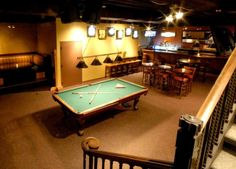 One of our favorite spots in downtown Indianapolis is the Rock Bottom Restaurant & Brewery. There is an awesome billiards room (a private room) tucked away in the basement you wouldn't even know existed unless you're familiar.  It's definitely a unique hidden event venue!
