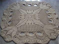 Текстиль, ковры ручной работы. Ярмарка Мастеров - ручная работа. Купить Квадратный ковер ручной работы из шнура Тюльпаны в квадрате. Handmade.