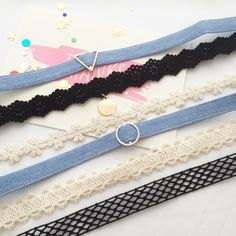 Stylish Denim Choker please choose Circle or Triangle