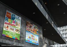 Gradinita Royal Design grafic modele bannere si panouri pentru gradinita particulara Royal Kindergarten Times Square, Broadway Shows, School, Design