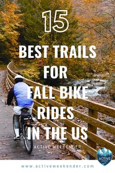 With the weather getting cooler and the leaves starting to change, there's never been a better time for a scenic bike ride to check out that awesome fall foliage. Yellowstone Camping, Bike Path, Travel Design, Bike Trails, Travel Usa, Bike Rides, National Parks, Adventure Trips, Adventure Awaits