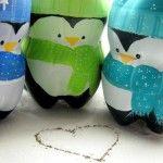Plastic Bottle Penguins. Cute idea for winter fun . . .