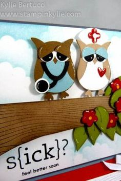 Punch Art Doctor and Nurse Owl on a Tree by cards by Kylie-Jo - Cards and Paper Crafts at Splitcoaststampers