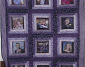 Photo Memory Quilt. Color blocking?  Awesome.