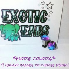 Full stock galaxy plugs galaxy gauges 8g 6g 4g 2g 0g by ExoticEars