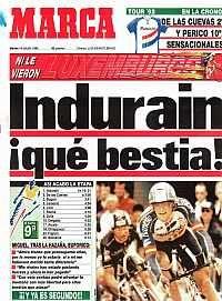 Espectacular triunfo de Indurain en el Tour