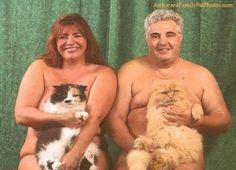 Weird family photos withcats