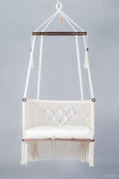 Macrame Hanging Chair, Macrame Chairs, Hanging Chairs, Swing Chairs, Diy Hanging, Garden Chairs, Beach Chairs, Patio Chairs, Outdoor Chairs