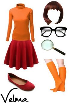 DIY Velma Halloween Costume - Put together your own Velma Costume for a unique look that fits well since YOU are picking the pieces individually. Scooby Doo Halloween Costumes, Adult Halloween, Halloween Cosplay, Halloween Outfits, Halloween Party, Halloween Clothes, Meme Costume, Easy Costumes, Costumes For Women