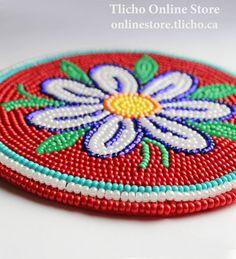 Beaded Coaster by Dene artist, Dora Duncan. $117