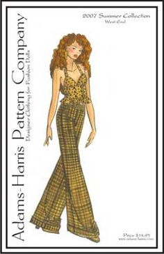Adams Harris Doll Clothes Patterns for sale for Ellowyne Wilde and Delilah Noir