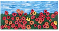 Class mural - individual poppies put together Primary School Art, Elementary Art, School Kids, School Teacher, Book Crafts, Arts And Crafts, Remembrance Day Poppy, Preschool Decor, Simple Art