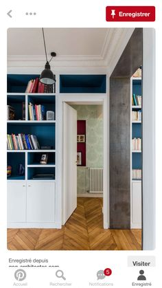 Custom closets, floral wallpaper but light, ceiling moldings, this apartment renovation has it all. ARCHITECTOR: Edouard Fournier Christophe Ruffio Pictures Paris XVI Source by pourmonbureau House Design, Home, Beautiful Interiors, Apartment Renovation, New Homes, Room Remodeling, Cosy Room, Interior Design Bedroom, Living Room Designs