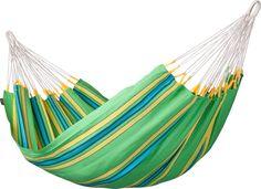 La Siesta Currambera 1-persoons hangmat  La Siesta Currambera De Currambera hangmat van La Siesta is een eigentijdse eenpersoons hangmat van honderd procent katoen. En of je deze hangmat nu wilt ophangen op het balkon in de tuin of mee wilt nemen naar het strand. Overal zul je dankzij deze hangmat heerlijk kunnen ontspannen. De Currambera is een hangmat voor één persoon en heeft een maximaal draagvermogen van 120 kilogram. Het gewicht van de hangmat zelf is 14 kilogram. Verkrijgbaar in vier…
