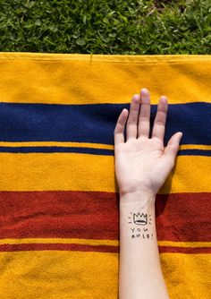 You Rule! Designed by Mike Lowery for Tattly temporary tattoos.
