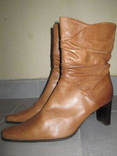 * * * CA& Stiefeletten cognac, * * * Wedges, Booty, Ankle, Ebay, Shoes, Fashion, Clothing Accessories, Ladies Shoes, Moda
