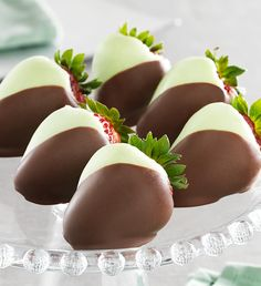 #FMBerries Full Half Dozen Mint Meltaway Chocolate Dipped Strawberries $34.99