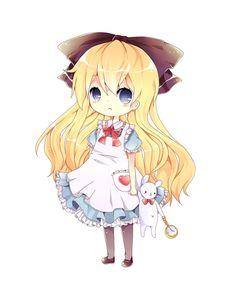chibi alice in wonderland - - Yahoo Image Search Results Anime Chibi, Kawaii Anime, Manga Anime, Anime Art, Alice Rabbit, Alice Anime, Sailor Moon Character, Alice In Wonderland Theme, Satsuriku No Tenshi