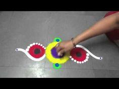 simple fancy rangoli - YouTube