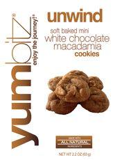 YUMbitz Soft Baked Mini White Chocolate Macadamia Cookies