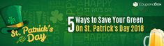 If you try, you can find some frugal ways but, you do not need to as there are a few simple ways to celebrate this big day with less expense: Ways To Save, 5 Ways, Happy Day, Simple Way, St Patricks Day, Frugal, Save Yourself, Green, Budget