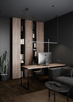 Modern Office Design, Office Furniture Design, Office Interior Design, Office Interiors, Modern Offices, Office Designs, Home Room Design, House Design, Wall Design
