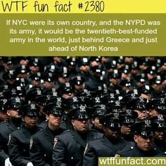 A sea of uniforms ensure law and order prevails in trigger happy New York ✅