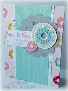 Create 12 birthday cards using the new Sugar Rush paper pack at February's card workshop!               The card kit comes pre-cut  and rea...