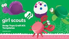 Girl Scout Swap Tops Craft Kit Templates